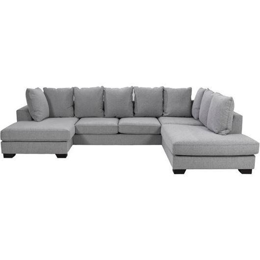 Picture of KINGSTON sofa U shape Right grey