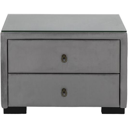 Picture of STEN bedside table microfibre grey