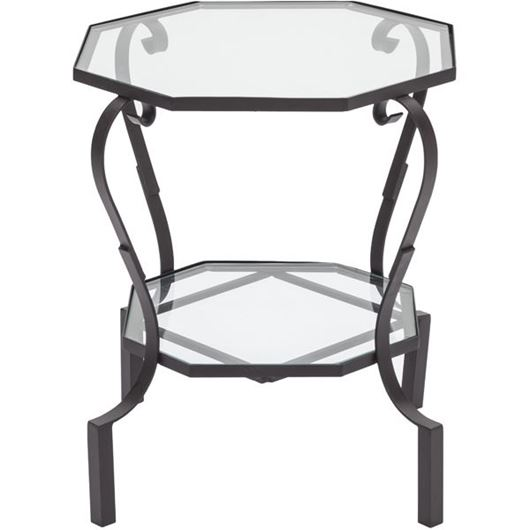 Picture of GARBO side table 55x55 clear/bronze