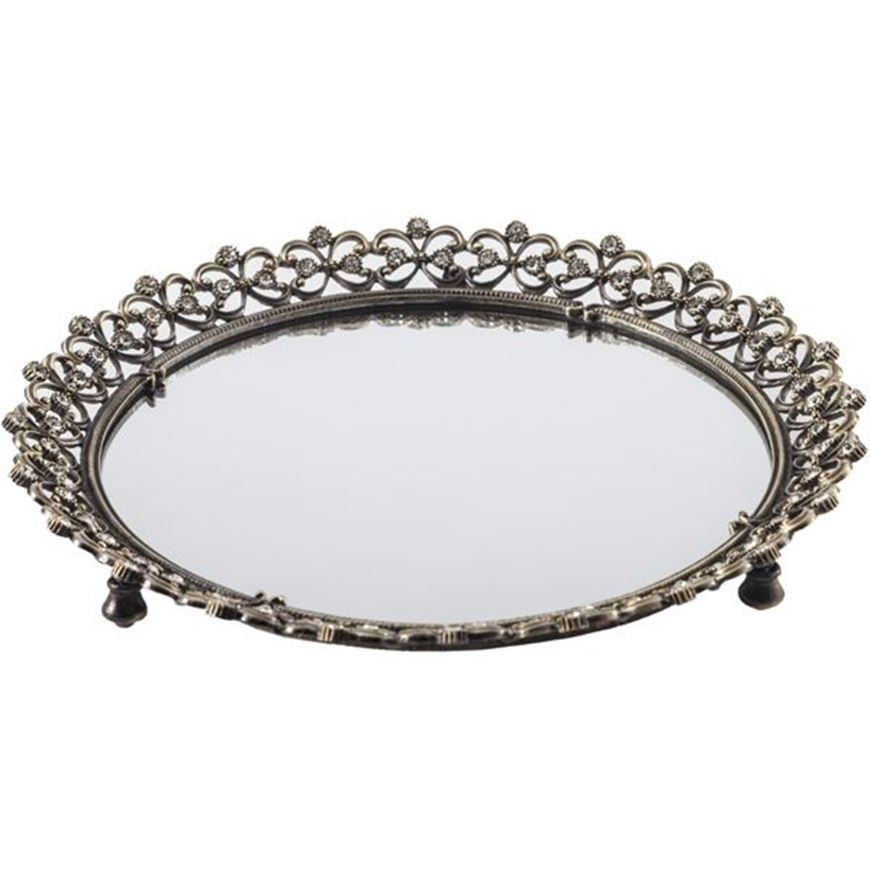 Picture of AALEXI tray d23cm gold