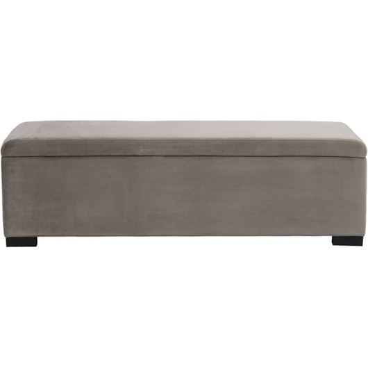 Picture of STEN stool 160x40 microfibre taupe
