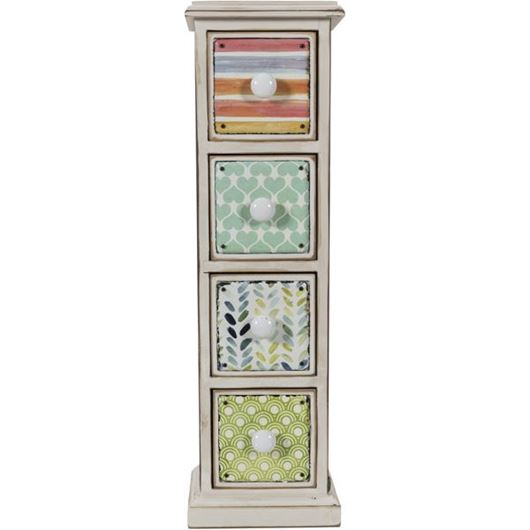 Picture of ABNER cabinet 53x16 white/multicolour