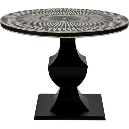 Picture of RUTH dining table d100cm black and white