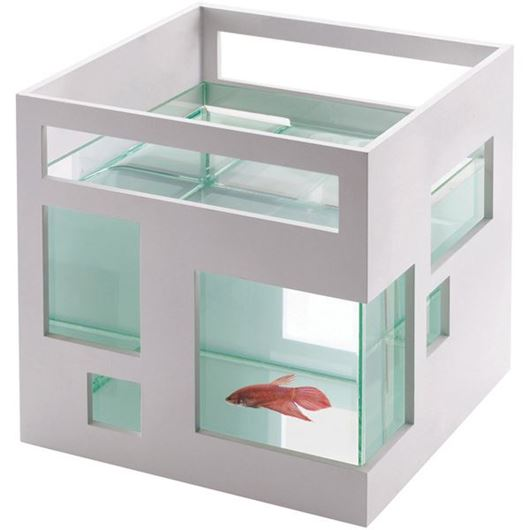 Picture of FISHHOTEL fish bowl white