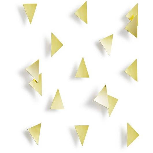 Picture of CONFETTI wall decoration set of 16 brass