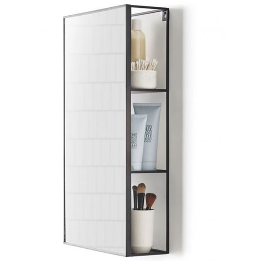 Picture of CUBIKO mirror with storage 61x31 black