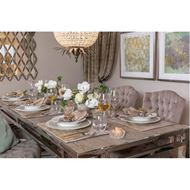 VENES dining table 220x90 brown/stainless steel
