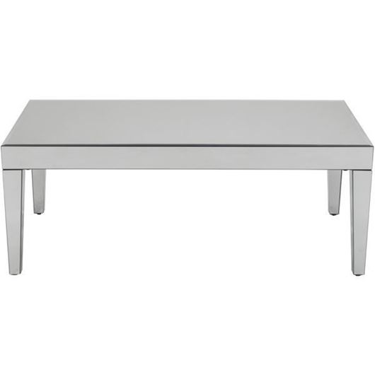 TORA coffee table 124x65 clear/black