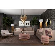 RING coffee table d90cm pink