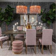 RING stool d45cm pink