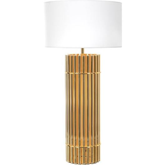 Picture of SIA table lamp h92cm white/gold