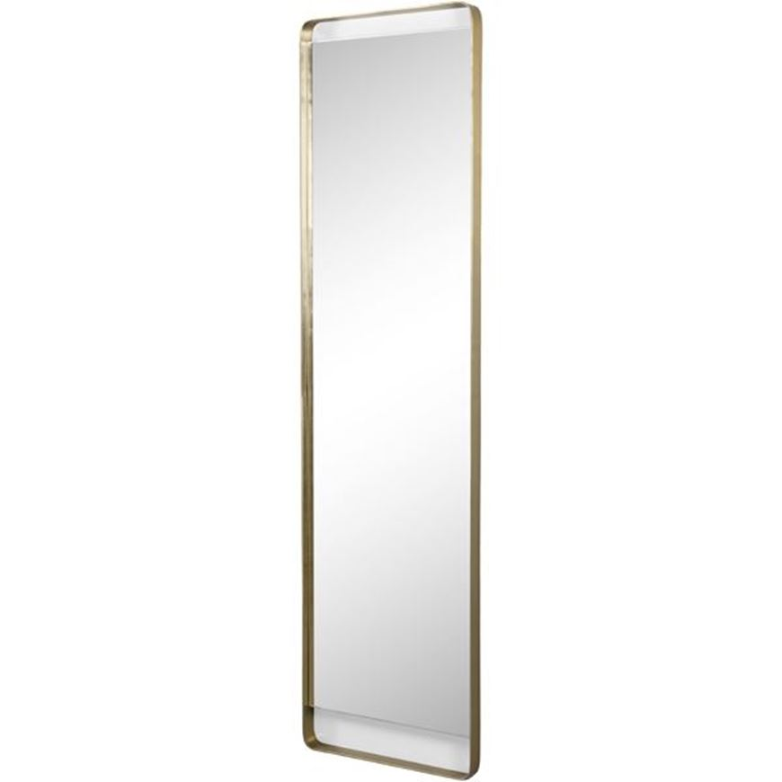 Picture of CASTOR mirror 168x46 brass