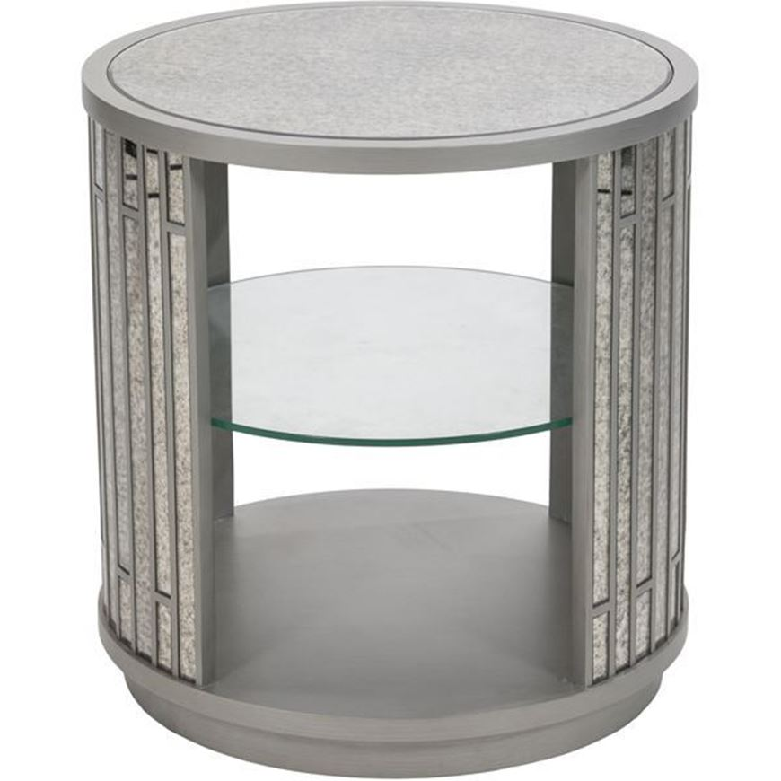 Picture of LEVI side table d61cm silver
