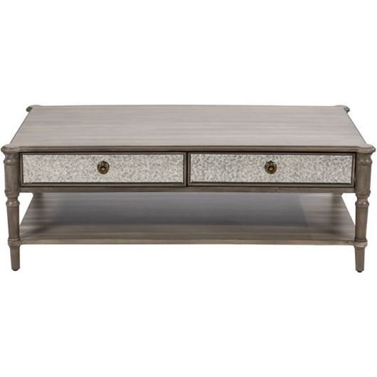 Picture of JEROM coffee table 130x70 brown/silver