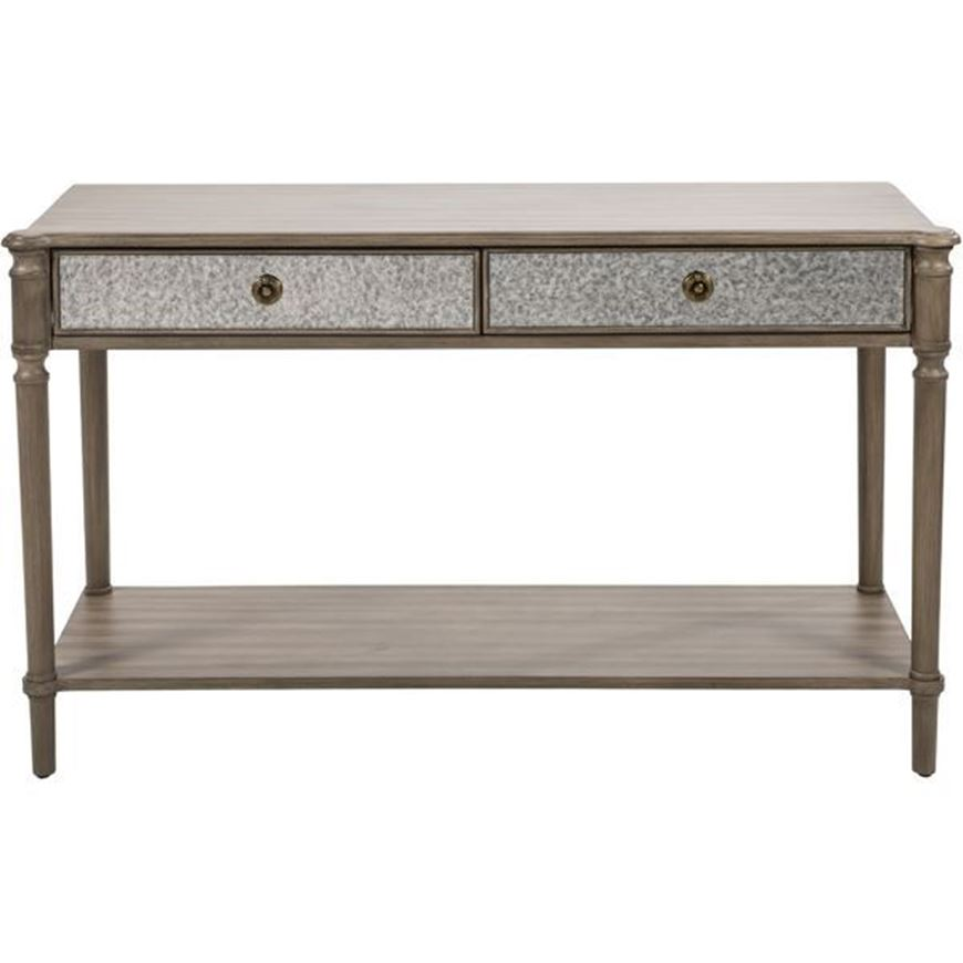 Picture of JEROM console 132x45 brown/silver