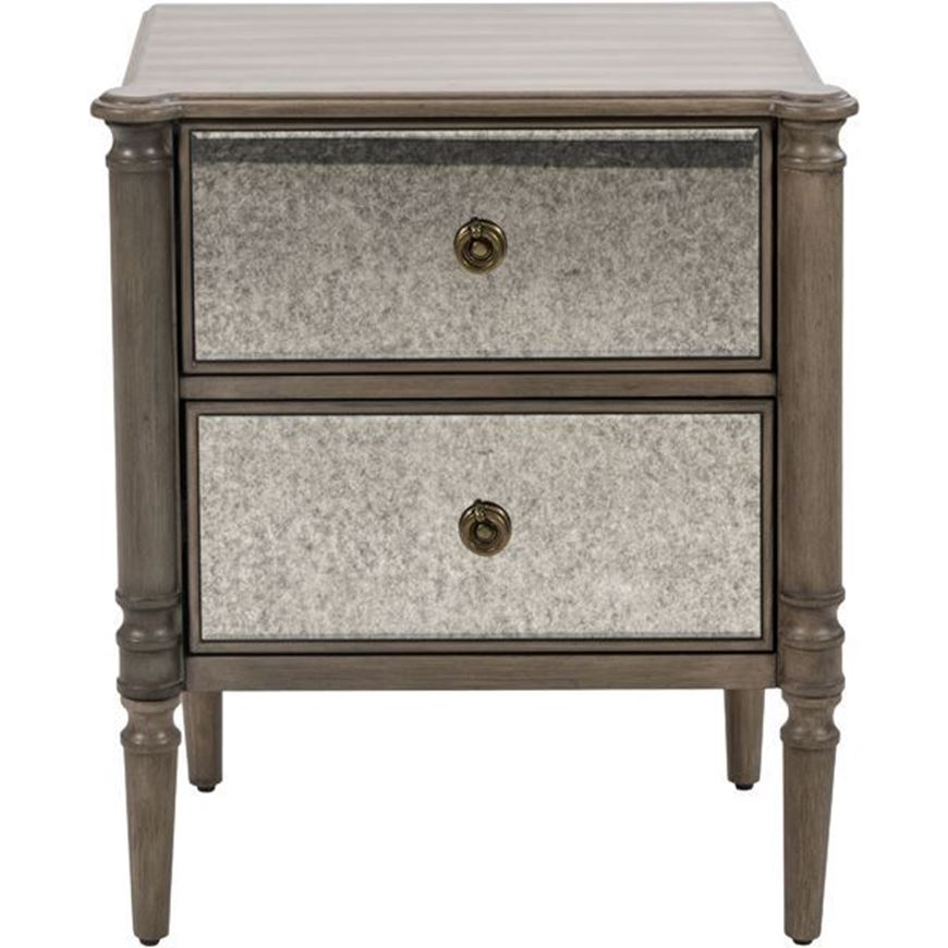 Picture of JEROM bedside table brown/silver