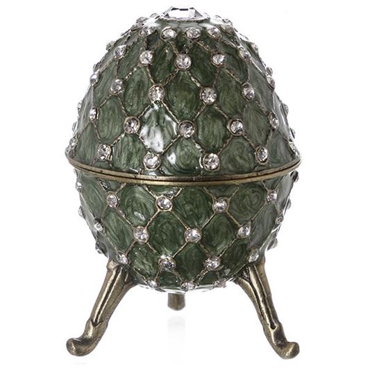 Picture of AEMILI trinket box h8cm gold/green