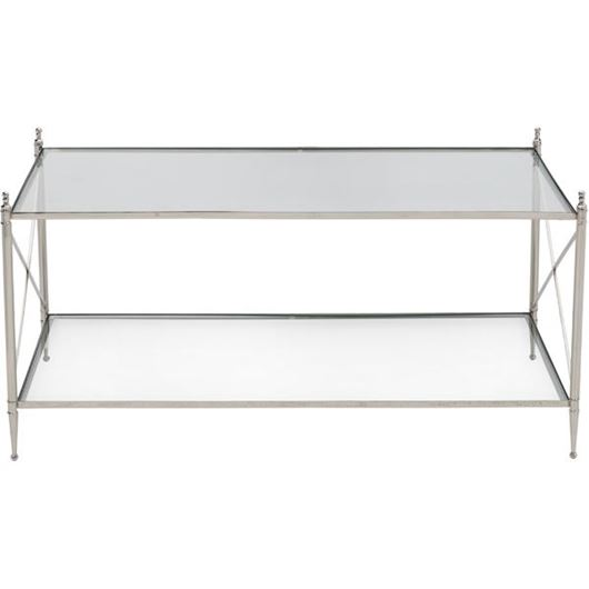 Picture of ORA coffee table 107x62 clear/nickel