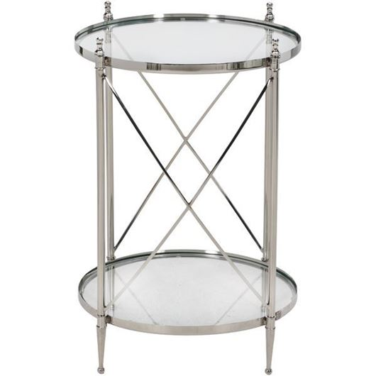 Picture of ORA side table d50cm clear/nickel