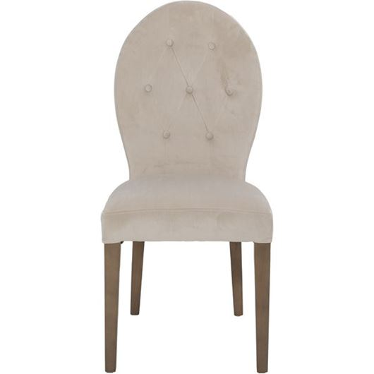 Picture of ROUND dining chair beige/taupe
