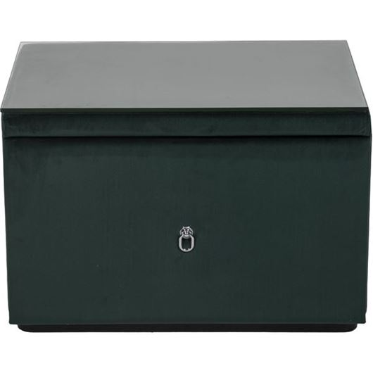 Picture of WINK bedside table microfibre green