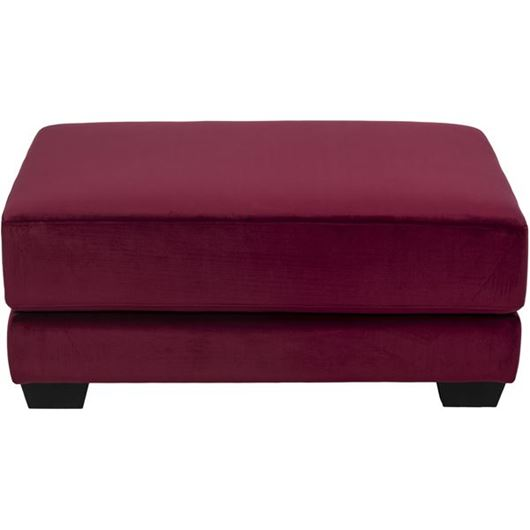 Picture of SPUD footstool microfibre red