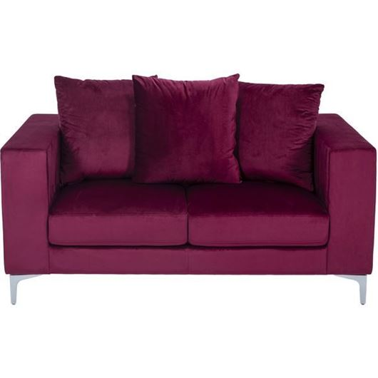 REO sofa 2 microfibre red