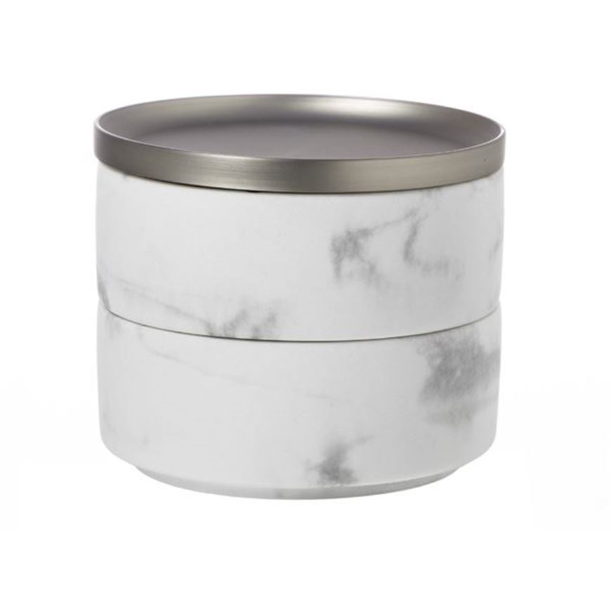 Picture of TESORA storage box nickel/white