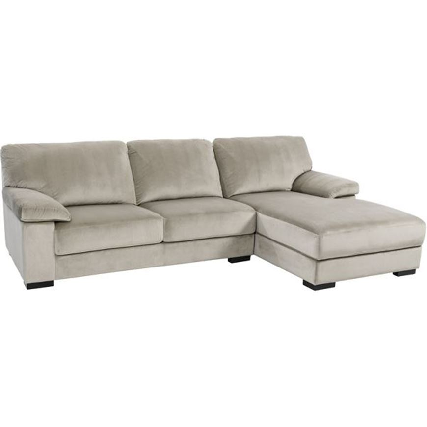 Picture of SAN sofa 2.5 + chaise lounge Right microfibre taupe