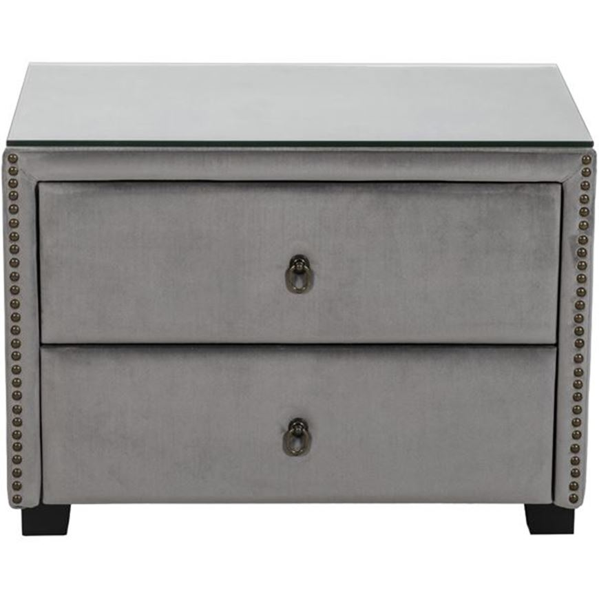 Picture of REST bedside table microfibre silver
