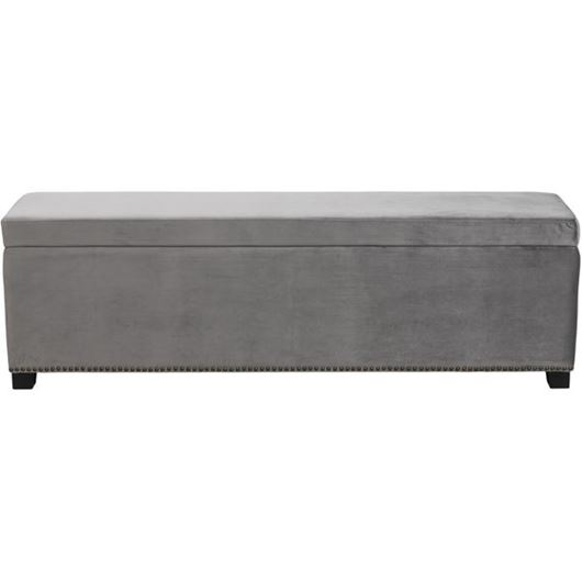 Picture of REST stool 160x40 microfibre silver