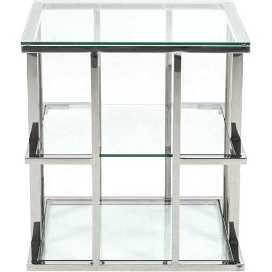 Picture of RABIL side table 60x60 clear/stainless steel