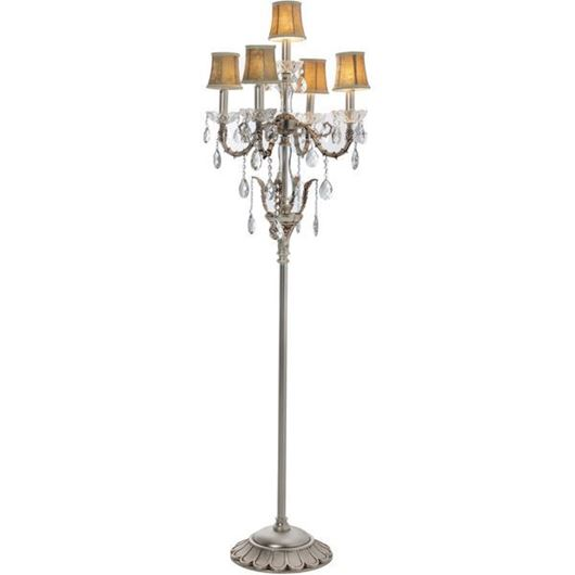 Picture of ROXY floor lamp h160cm brown/silver