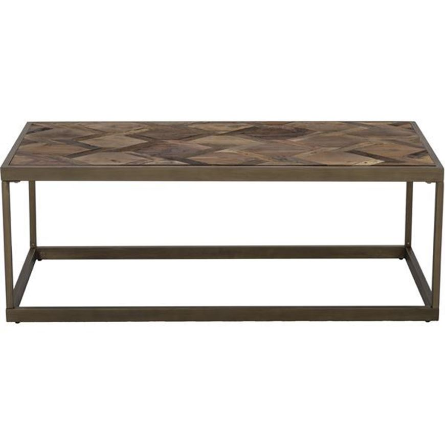 Picture of YET coffee table 120x60 brown/gold