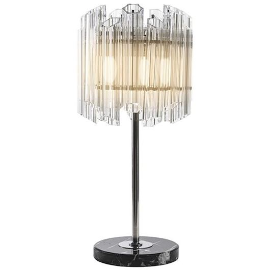 Picture of SUAL table lamp h70cm clear/stainless steel