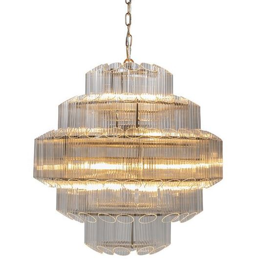 Picture of ALVY chandelier d66cm clear/stainless steel