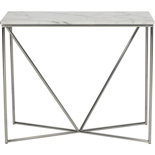 Picture of FAKO console 90x35 white/stainless steel