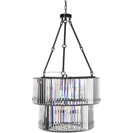 Picture of BLAIS pendant lamp d67cm clear/black