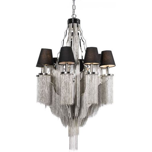 Picture of BAT chandelier d75cm black/nickel