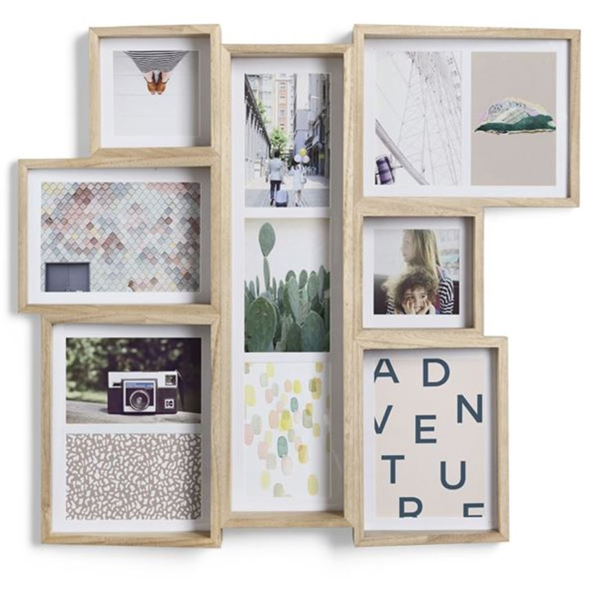 Picture of EDGE multi photo frame 11 natural
