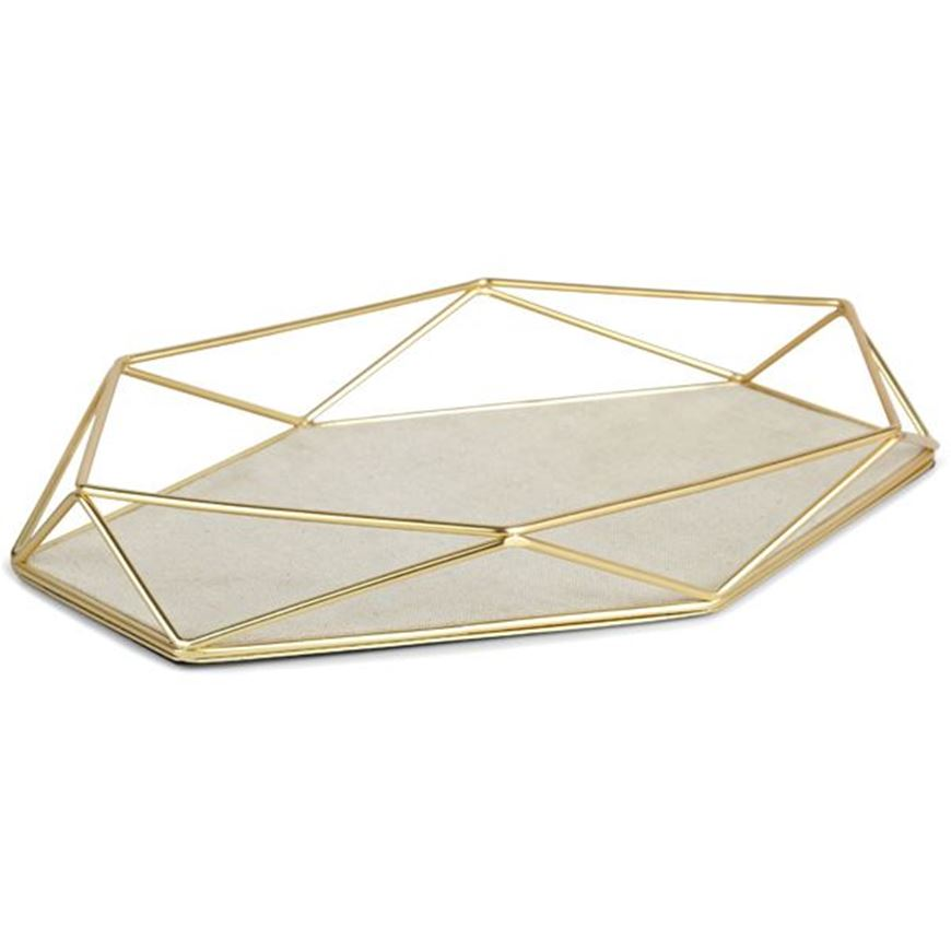 Picture of PRISMA jewellery tray brass