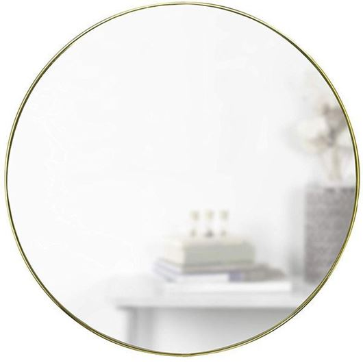Picture of HUBBA mirror d86cm brass