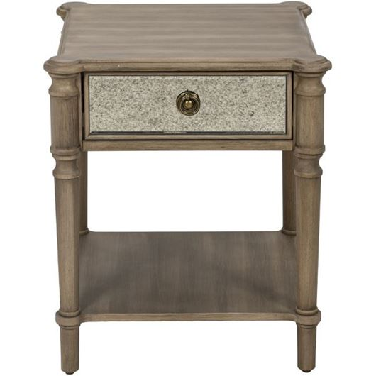 Picture of JEROM side table 50x50 brown/silver