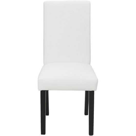 Picture of REBO dining chair white/black