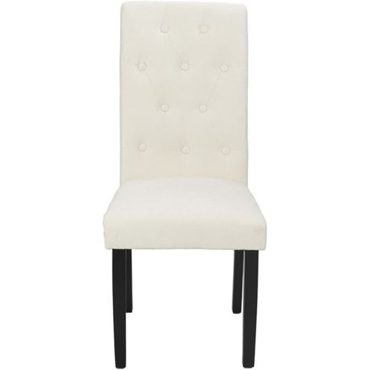 Picture of KORA dining chair white/black