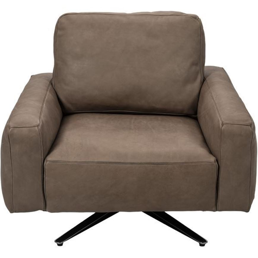 Picture of HOGARTH armchair leather taupe