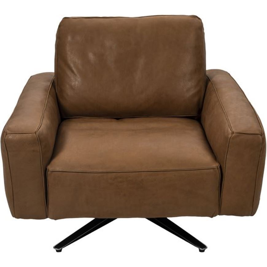 Picture of HOGARTH armchair leather brown