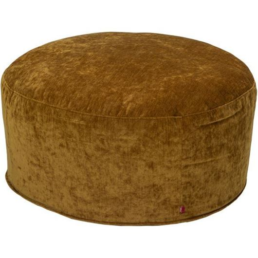 Picture of RUBY footstool d78cm yellow