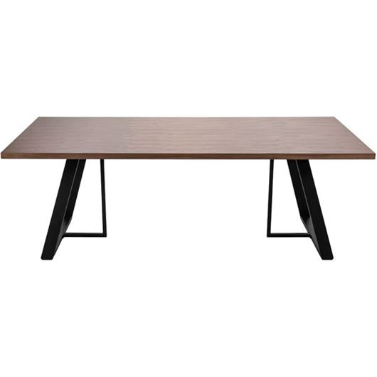 Picture of STEPHANO dining table 220x100 brown/black