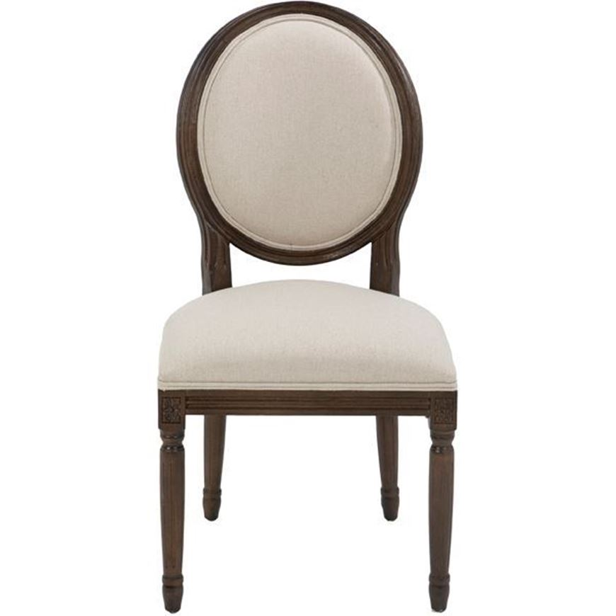 PARDO dining chair natural/brown